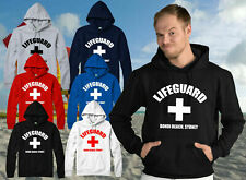 PERSONALISED LIFEGUARD HOODIE, WITH YOUR DESTINATION PRINT ADULTS & KIDS TOP