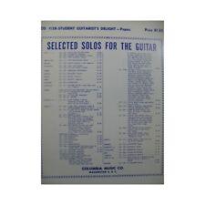 Studient Guitarist's Delight 20 pièces pour Guitare 1954 partition sheet music s