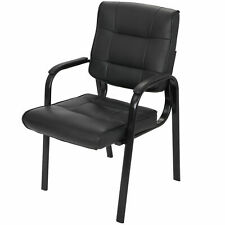 Executive Office Desk Task Computer Chair Black Classic Leather Office Chair