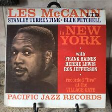 Les McCann Turrentine Blue Mitchell At NY The Village Gate Pacific Jazz #45  LP