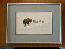 """Marianne Wieland Art (limited edition print) """"There's a Moose at the Mailbox!"""""""