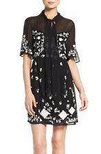 French Connection Midnight Garden' Embroidered Woven Fit & Flare Dress ( size 6)
