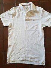 Tommy Hilfiger white T shirt Polo short steeve collar button V neck Medium