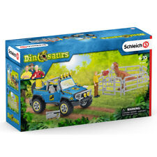 More details for schleich  off-road vehicle with dino outpost playset with figures aged 4+