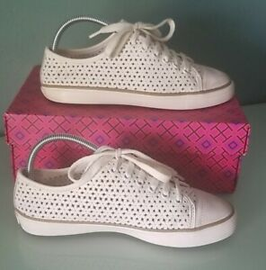 Tory Burch Floral Perforated Sneakers