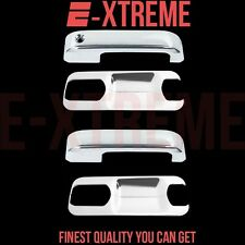 2015-UP FORD F-150 2 DOORS HANDLE W/O PSGKH+BACK PLATE LEVER ABS CHROME COVERS