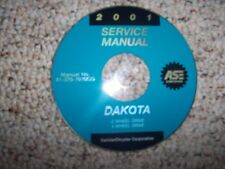 2001 Dodge Dakota Service Repair Manual SLT Sport 2.5L 3.9L 4.7L 5.9L V6 V8