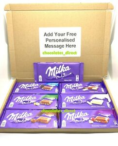 Personalised Milka Chocolate Large Hamper Gift Box 7x100g Bars