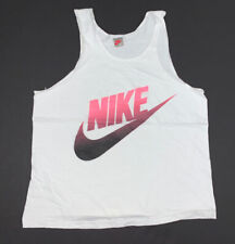 Vintage 90's Nike Tank Top Size Adult Small White Swoosh