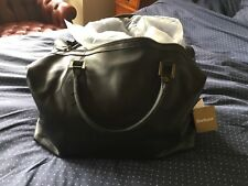 Barbour Explorer Leather Black Hold-all Bag BNWT