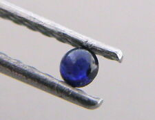 3.5mm ROUND CABOCHON NATURAL UNTREATED BLUE SAPPHIRE