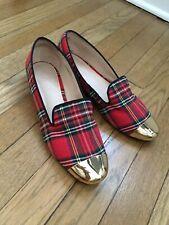 Vintage Plaid Shoes 14th & Union Incredible Flats Slip Ins Gold Toe Size 8.5 Euc