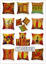 African Indian Savanna Cushion Cover Print Waist Pillow Case Home Sofa Decor