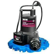 Wayne Pool Cover Water Removal Pump 1/4 HP Automatic Switch Fully Immersible