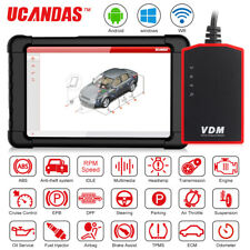 UCANDAS VDM Wifi Full System OBD2 Scanner+8'' Tablet Car TPC DPF Diagnostic Tool