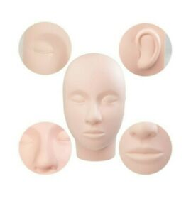 Practice Mannequin Manikin Head Eyelashes Makeup Massage Practice