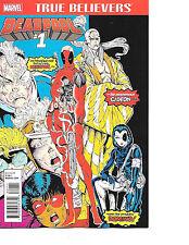 True Believers: Deadpool #1 (Lot of 10) Reprints New Mutants 98 1st Print Marvel