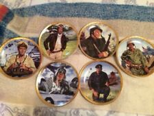 John Wayne Collector's Plates Franklin Mint Set of 6 Military Inspired. Mint!