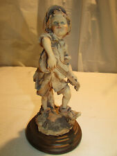 Vtg Giuseppe Armani Band Guitarist Figurine Gullivers Travels c 1981 Italy 3V1
