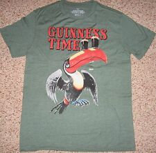 GAP Authentic GUINNESS TIME Green TOUCAN BEER T-SHIRT, Men S M Adult Unisex NEW