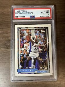 1992 Topps Shaquille O'Neal RC Rookie #362 PSA 8