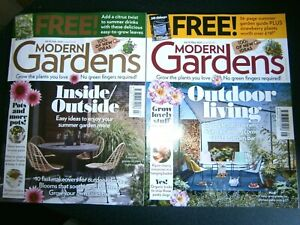 2 Modern Garden Magazines  Issues May & July 2021 No Free Gifts (new)