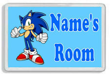 Personalised Sonic The Hedgehog Kids Bedroom Door Plaque *SIZE = 9.5 x 6.5 cm*
