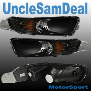 05-09 FORD MUSTANG BLACK FRONT BUMPER CORNER SIGNAL LIGHTS DIRECT FIT PAIR
