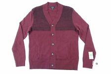 ALFANI PORT MAROON BLACK 2XL KNIT CARDIGAN SWEATER MENS NWT NEW