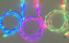 DUAL COLOR led light-up glow charger cable cord for iPhone 7 6 plus 5s micro USB