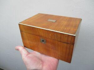 A Victorian Fruitwood? Box c1860