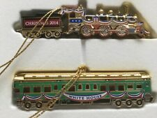The White House Christmas Ornaments Trains 2014