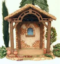 "Fontanini Italy 5"" Birth Of Christ Nativity Village Stable 50613 Mib"
