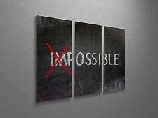 "Possible - Inspirational Modern Pop Art Canvas Triptych Print 48""x30"""
