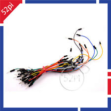 65Pcs Mixed Color Male to Male Solderless Flexible Breadboard Jump Cable Wires