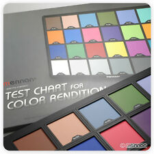 """Mennon Test Color Chart w/ 24 Colors, Super Large Size 15"""" x 10"""" from US seller!"""