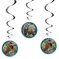 "3 Jurassic World Park Dinosaurs Birthday Party Hanging 26"" Swirls Decorations"