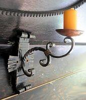 R/IfE067 robert rank mittelalterlicher wandleuchter eisen kupfer vintage schwer
