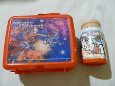 VINTAGE TRANSFORMERS PLASTIC LUNCH BOX W THERMOS 1984 ALADDIN INDUSTRIES HASBRO