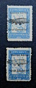 PARAGUAY 1931 GRAF ZEPPELIN overprint (Scott C54 C55) F LH