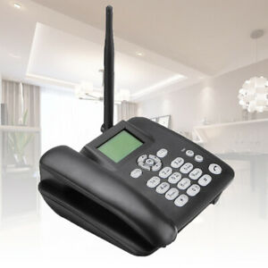 Protable Wireless Terminal GSM Desk Phone SIM Card Mobile Desktop Telephon #