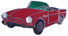 Sunbeam TIGER car cut out lapel pin - Red