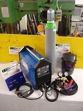WIG Schweißgerät 210 Ampere AC DC, Druckminderer 10 Liter Gasflasche Schweißhelm