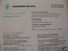 "HOHNER-7"" Akkordeon-Ensemble Marianne Probst   3Track EP HS8-099-62"