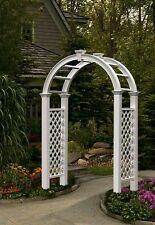 New England Arbors Decorative Nantucket Legacy Garden Patio Arbor Arch