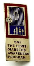 Pin Spilla Lions International 5 MI The Lions Diabetes Awareness Program