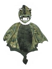 Toddler Boy Gymboree Plush Green Dragon Cape Headpiece Hat Costume Size 2T