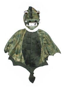 Toddler Boy Gymboree Plush Green Dragon Cape Headpiece Hat Costume Size 2T