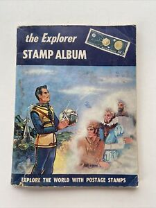 Vintage 1960 The Explorer Stamp Album By H E Harris (350+Stamps)