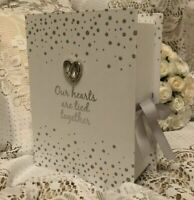 WEDDING PLANNER OUR HEARTS ARE TIED TOGETHER WISHES MEMORY BOX CARDS Gift Bride